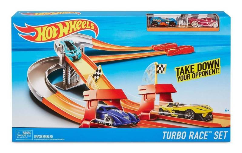 Hot Wheels - Turbo Race Set - Met 2 auto's