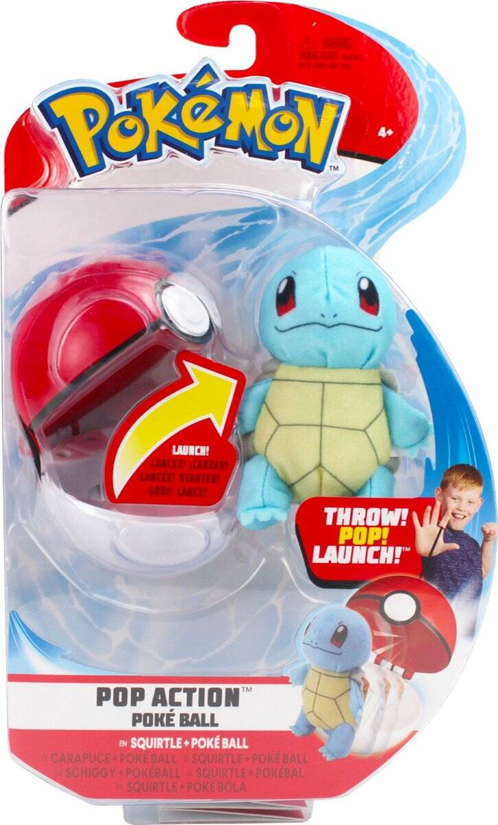 Pokemon Pop Action Poké Ball - Squirtle & Poke Ball