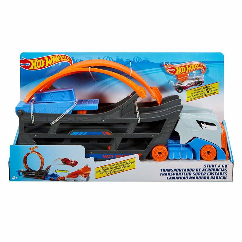 Hot Wheels Stunt & Go Transporter & Trackset