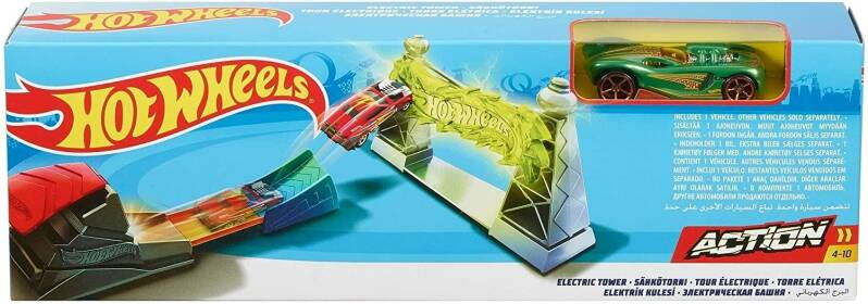 Hot Wheels Action Classic Stuntset Electric Tower