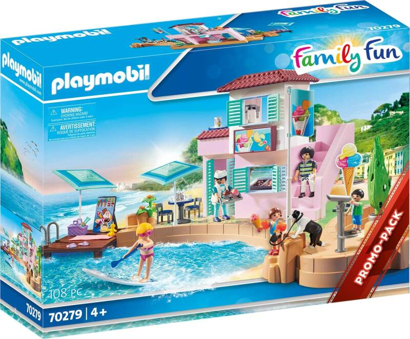 PLAYMOBIL Family Fun IJssalon aan de haven - 70279