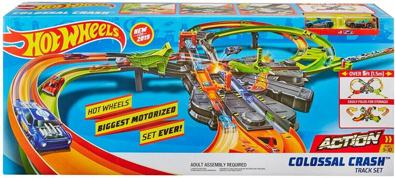 Hot Wheels Action Gigantische Achtvormige Botsing - Racebaan