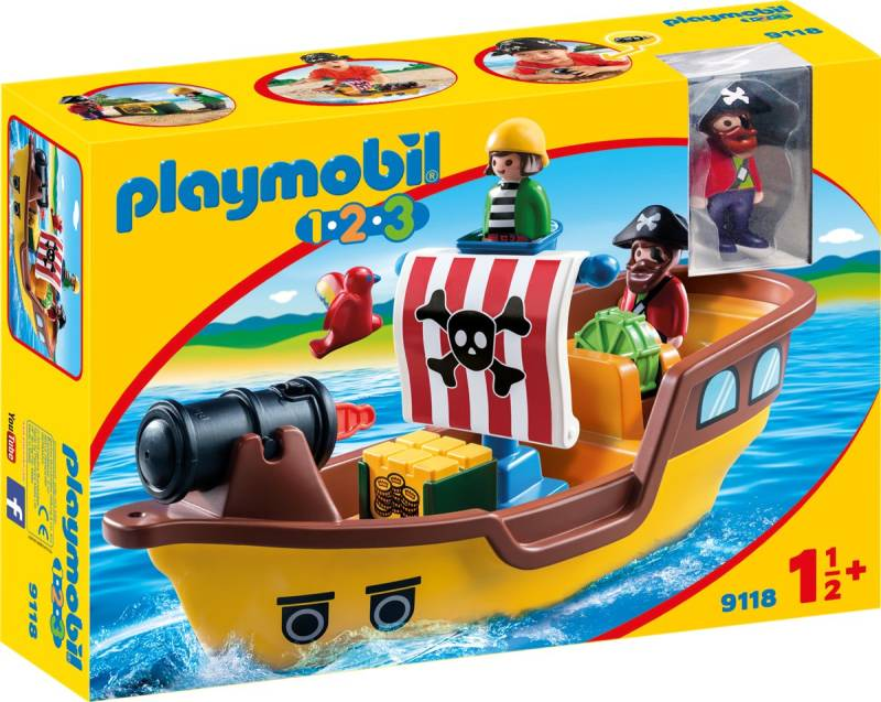 PLAYMOBIL 1.2.3. Piratenschip - 9118