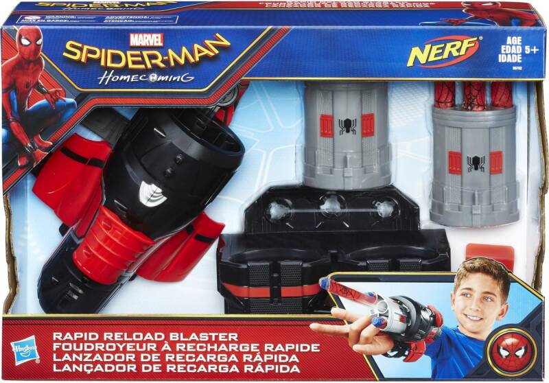 NERF Spider-Man Rapid Reload - Blaster
