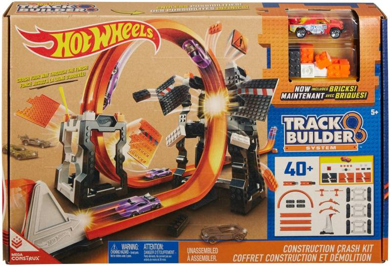 Hot Wheels Track Builder Bouw & Crash Set - Racebaan