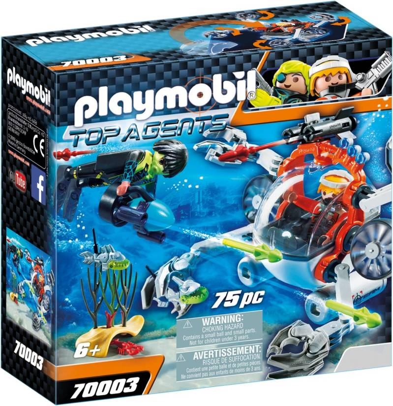 PLAYMOBIL SPY TEAM Bemande onderwaterrobot - 70003
