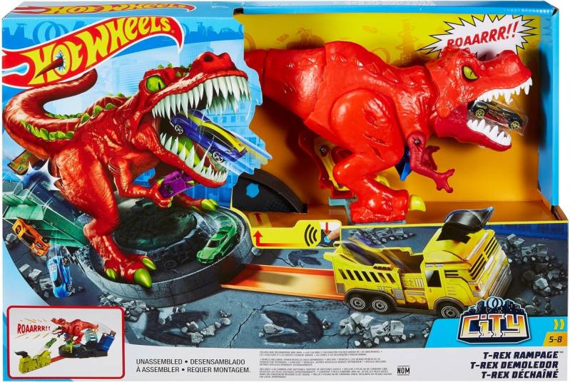 Hot Wheels City T-Rex Ravage Speelset - Racebaan