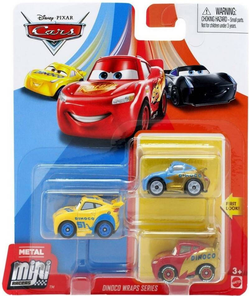 Disney Pixar Cars Mini Racers Set van 3 Auto's (GKG21)