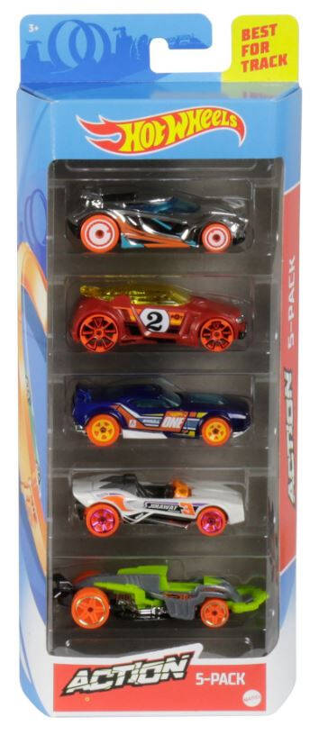 Hot Wheels Cadeauset met 5 Auto's (GHP64)