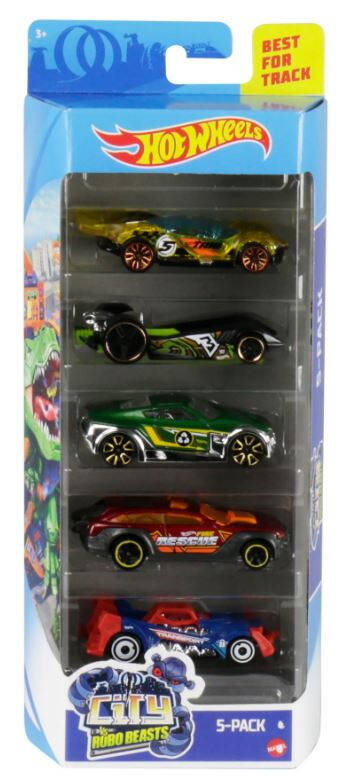 Hot Wheels Cadeauset met 5 Auto's (GHP63)