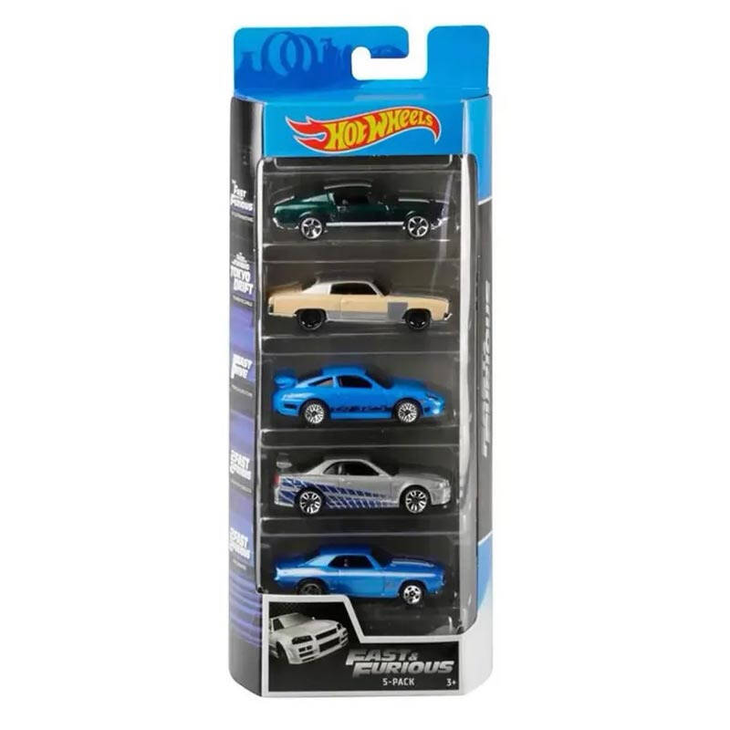 Hot Wheels Cadeauset met 5 Auto's (GHP55)