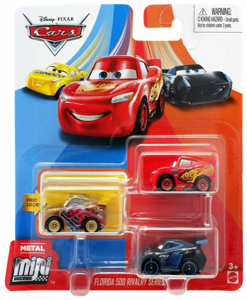 Disney Pixar Cars Mini Racers Set van 3 Auto's (GKG19)