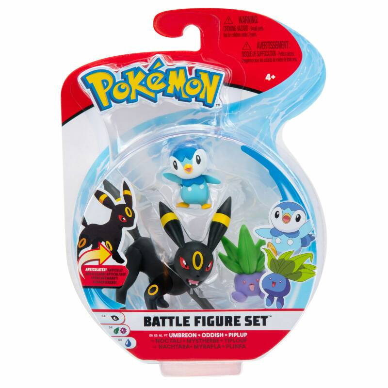 Pokemon Battle Figure Pack - Umbreon, Oddish, Piplup