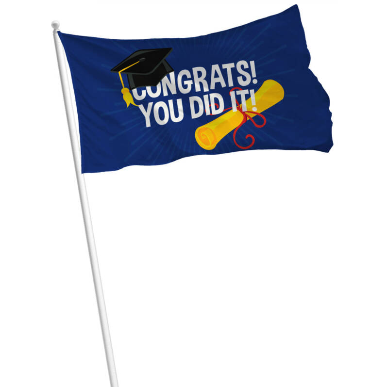 Vlag CONGRATS! YOU DID IT!