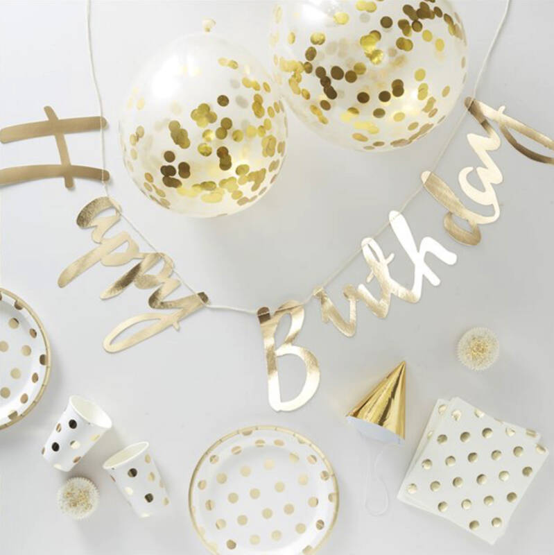 Party in a box - Gouden Dots