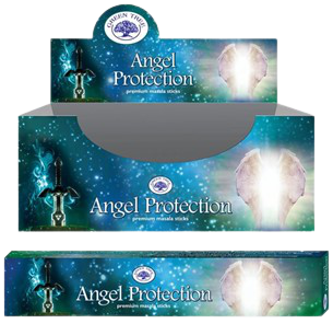 Green Tree Angel Protection Stokjes