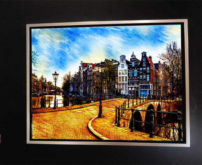 Canvas Fine Grachten Amsterdam