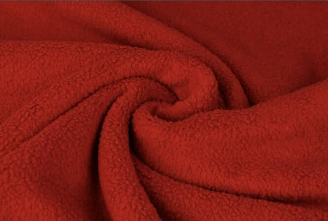 Sharpa teddy fleece Rood
