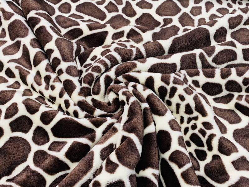 Wellness fleece giraffeprint