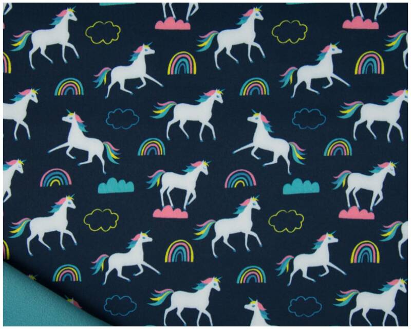 Softshell print unicorns navy