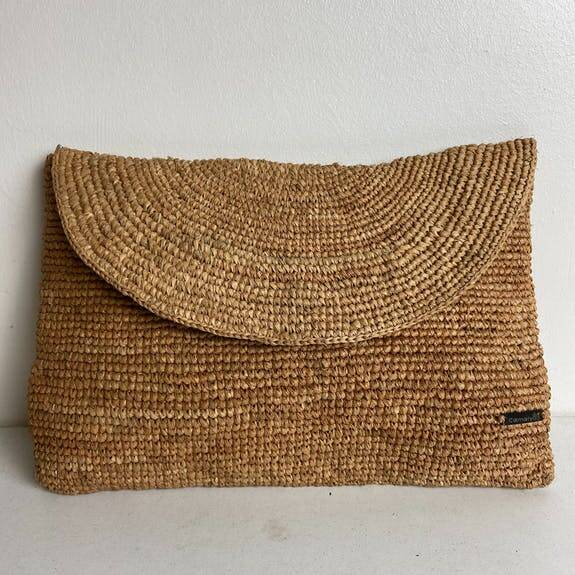 Camalya - Raffia clutch Naturel