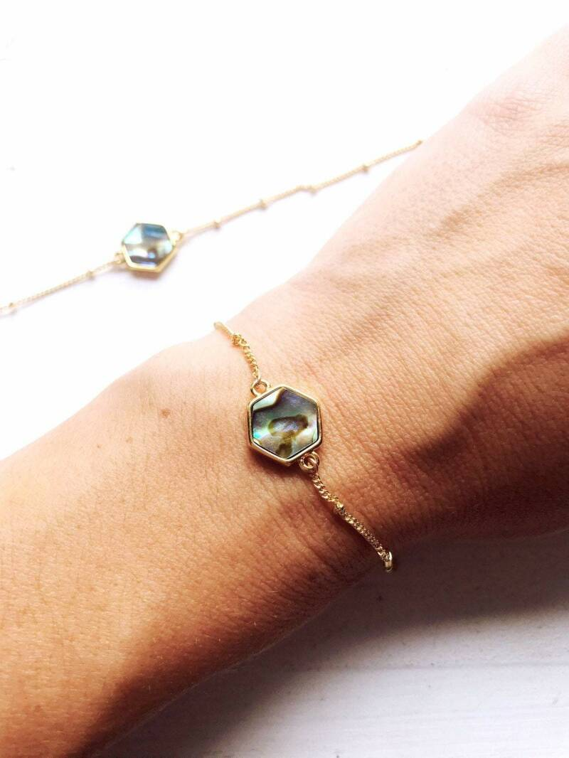 Boho Breath - armband Hexagon