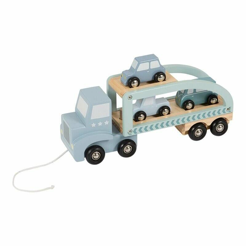 Little Dutch Houten Truck blauw