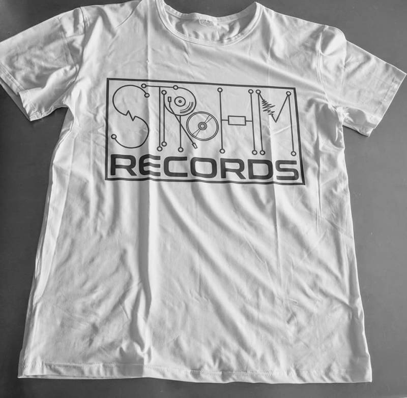 White t-shirt Strohm Records