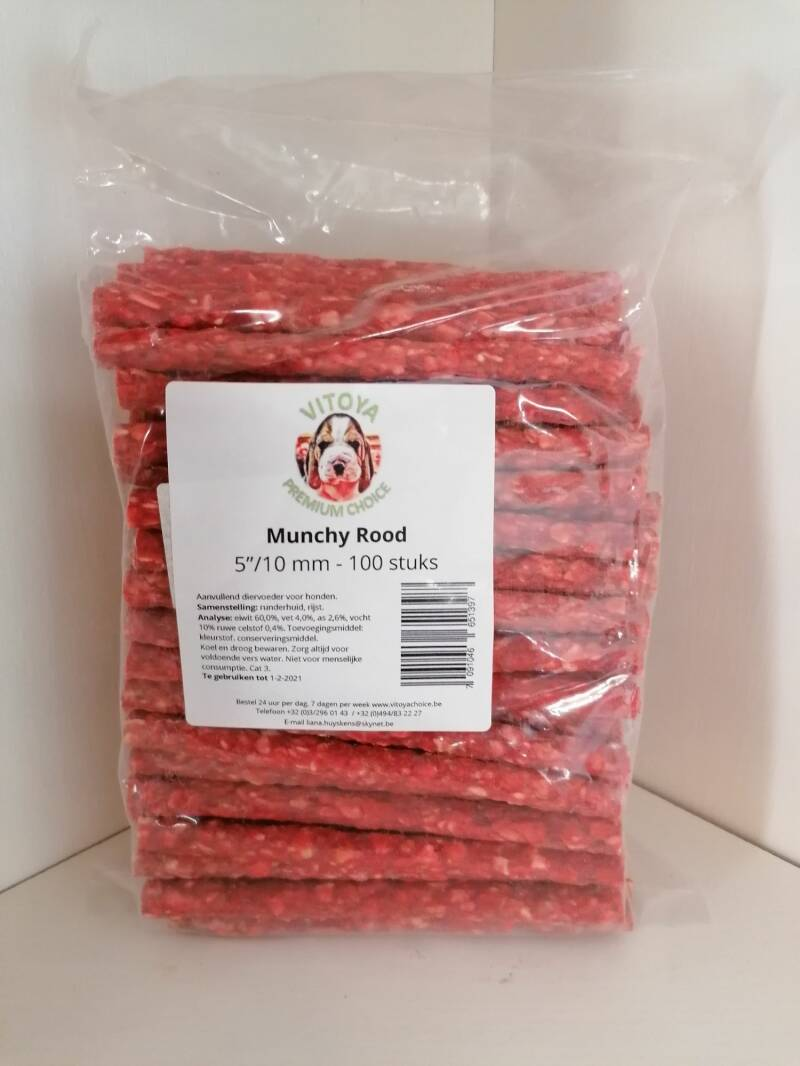 Munchy Rood     100st. - 10 mm