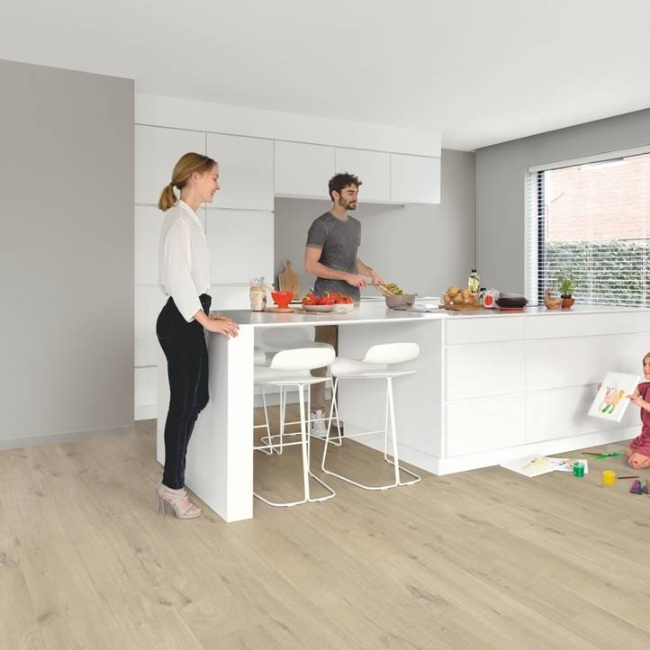 Quick Step Pulse click Katoen eik beige