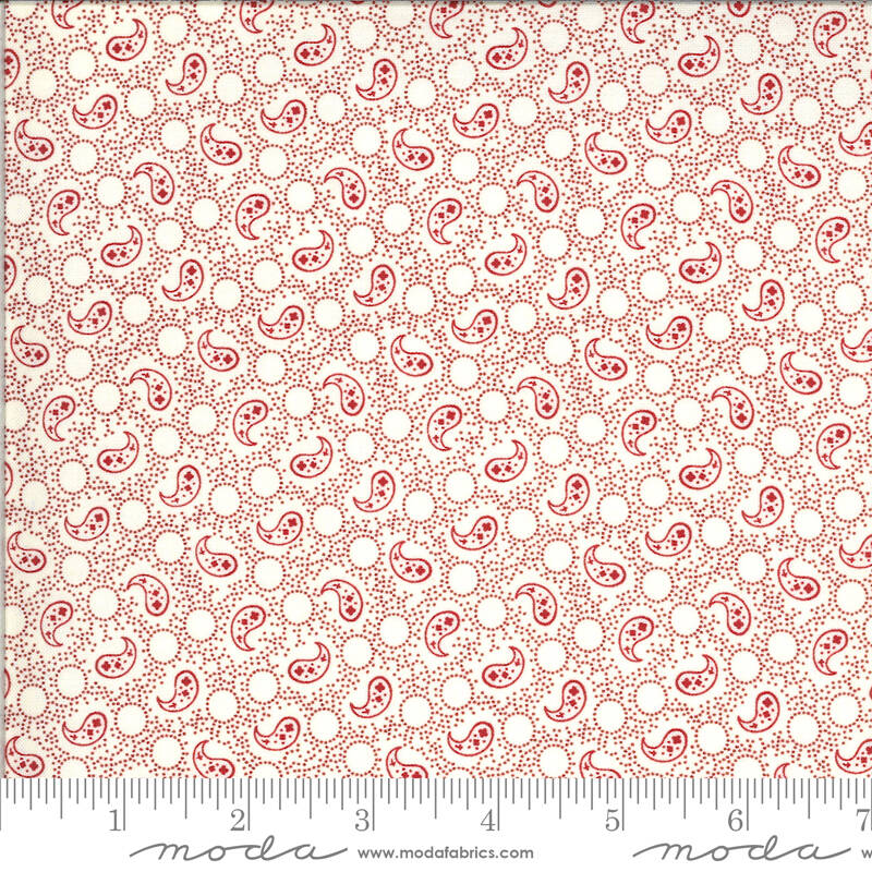 """Q520 - stof red paisley """"Roselyn"""" - Minick & Simpson by Moda"""