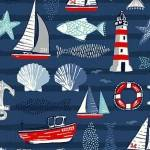 N1 - stof Icons, Sail Away by Makower