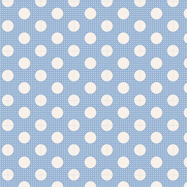 T8 - stof medium dots blue by Tilda
