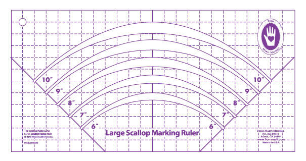 Large scallop marker ruler by Marti Michell