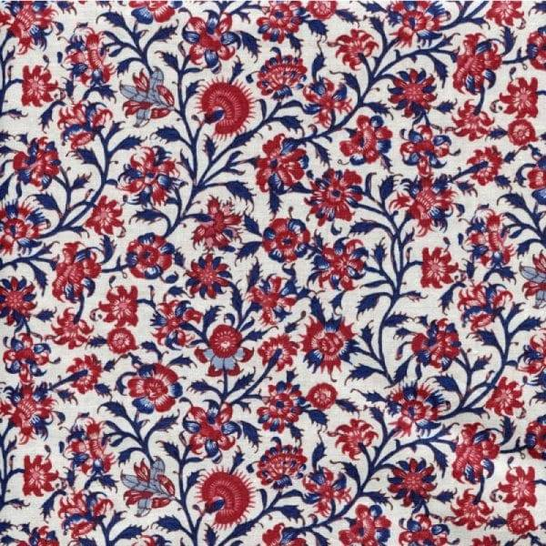 Q758 - stof cream Gujarat  - Dutch Heritage