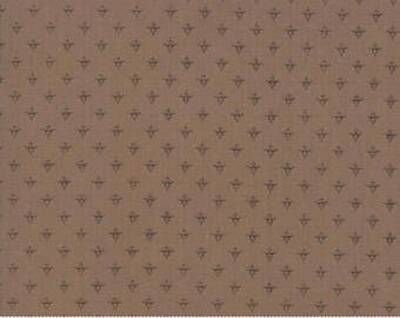 """Q101A - stof beige bruin  """"Cotton Cottage"""" - Bunny Hill Designs by Moda"""