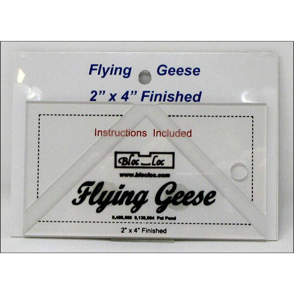 Liniaal Bloc-Loc flying geese 2 x 4 inch finished
