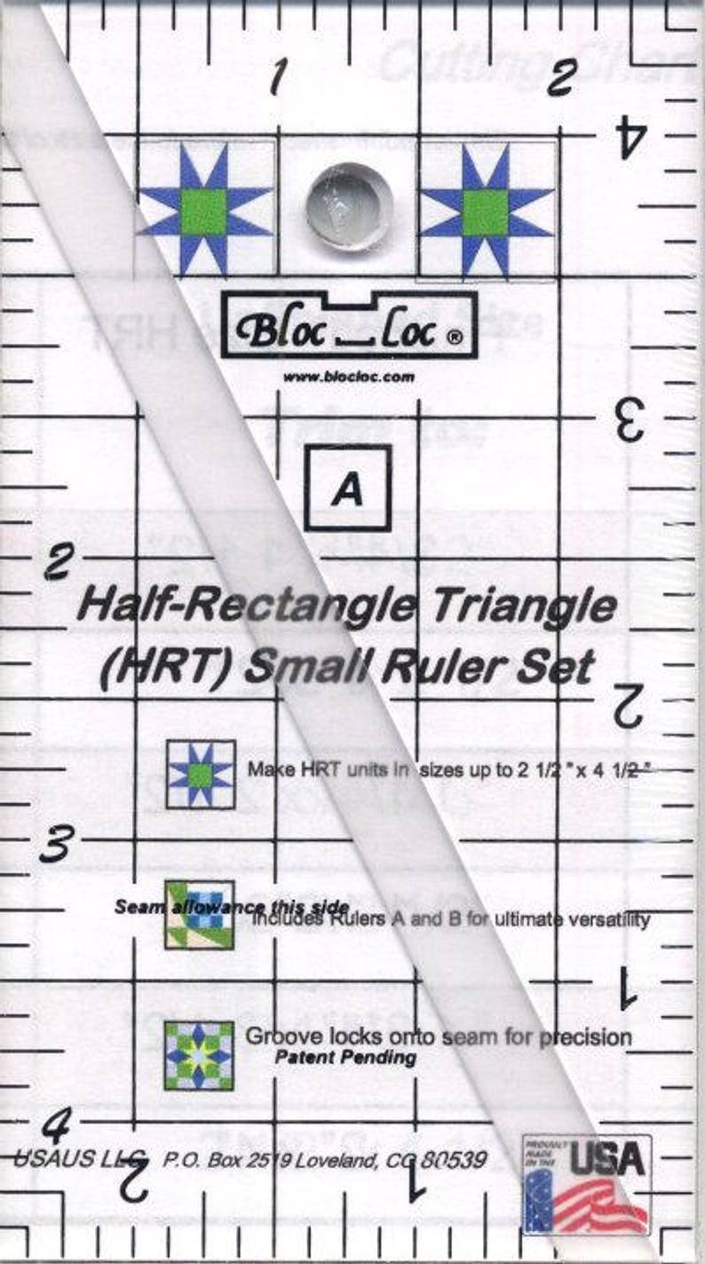 Liniaal Bloc-Loc Half Retangle Triangle 2 x 4,5 inch