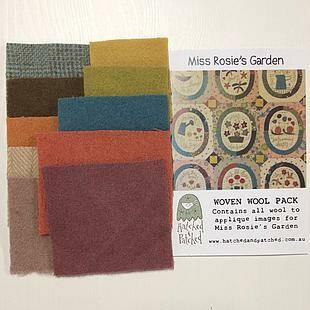Woven wool pack -  Hatched & Patched, miss rosie's Garden