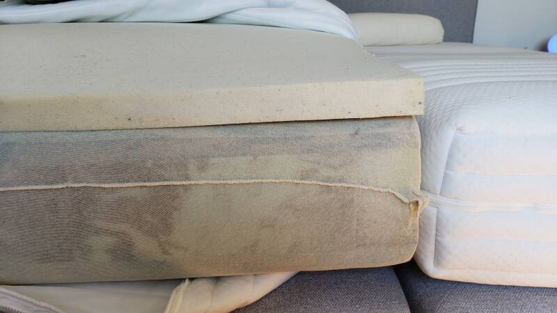 Aircosleep PRIMO G.T.I./C.T.I, Trippel comfort matras, Pocketveer/HR35 + Pulse-latex Topper Inside 5cm H