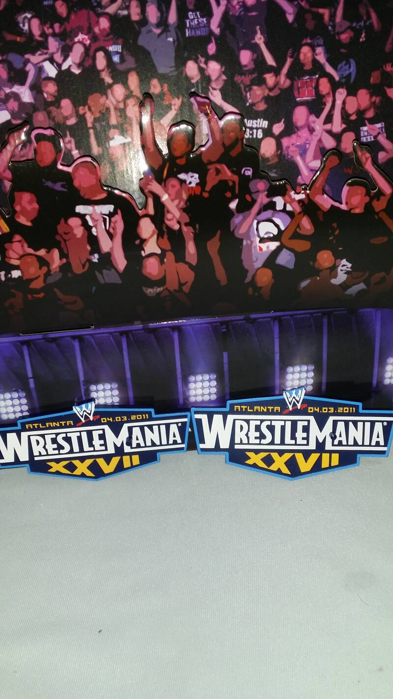 Wrestlemania figure stands