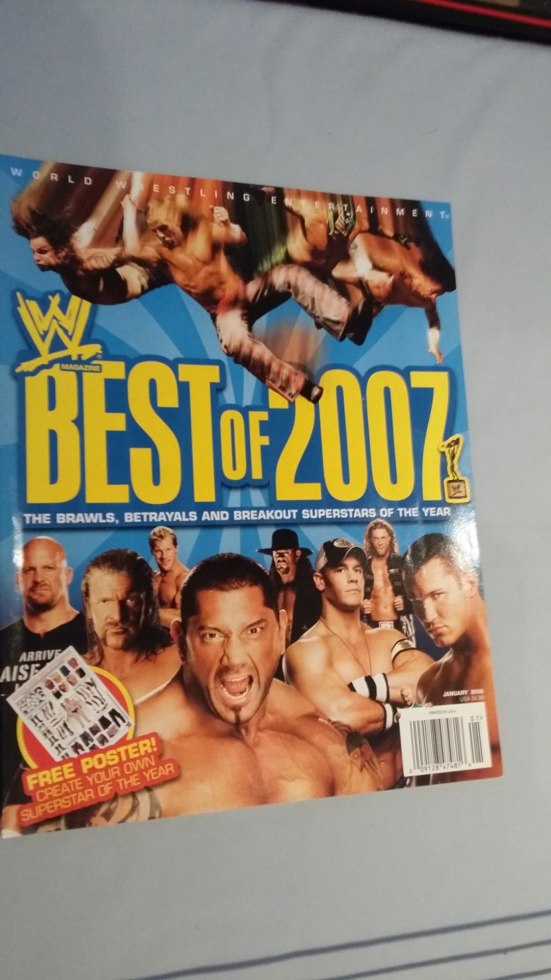 WWE best of 2007 magazine