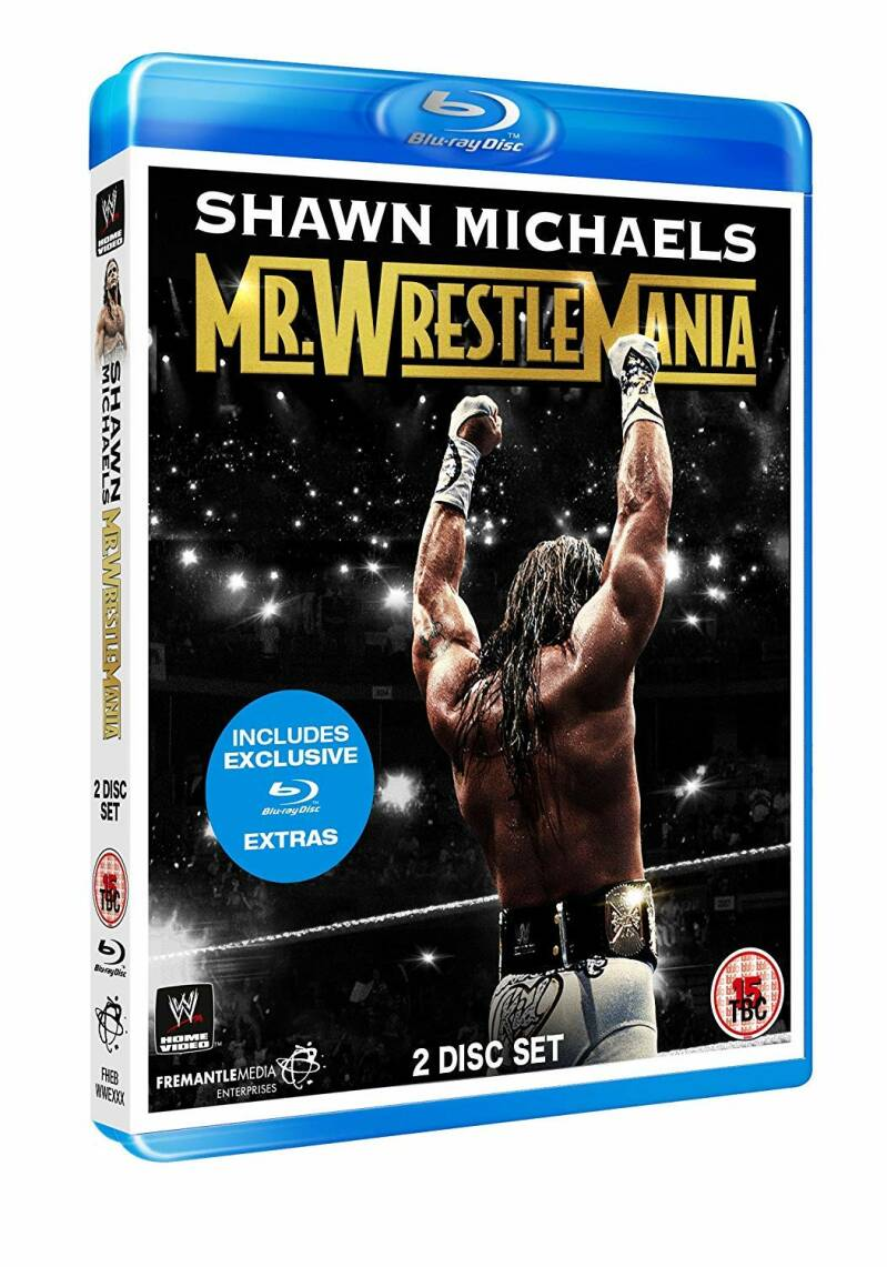 WWE Shawn Michaels Mr. Wrestlemania 2-disc Blu-Ray