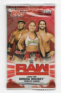 Raw 2019 trading cards pack