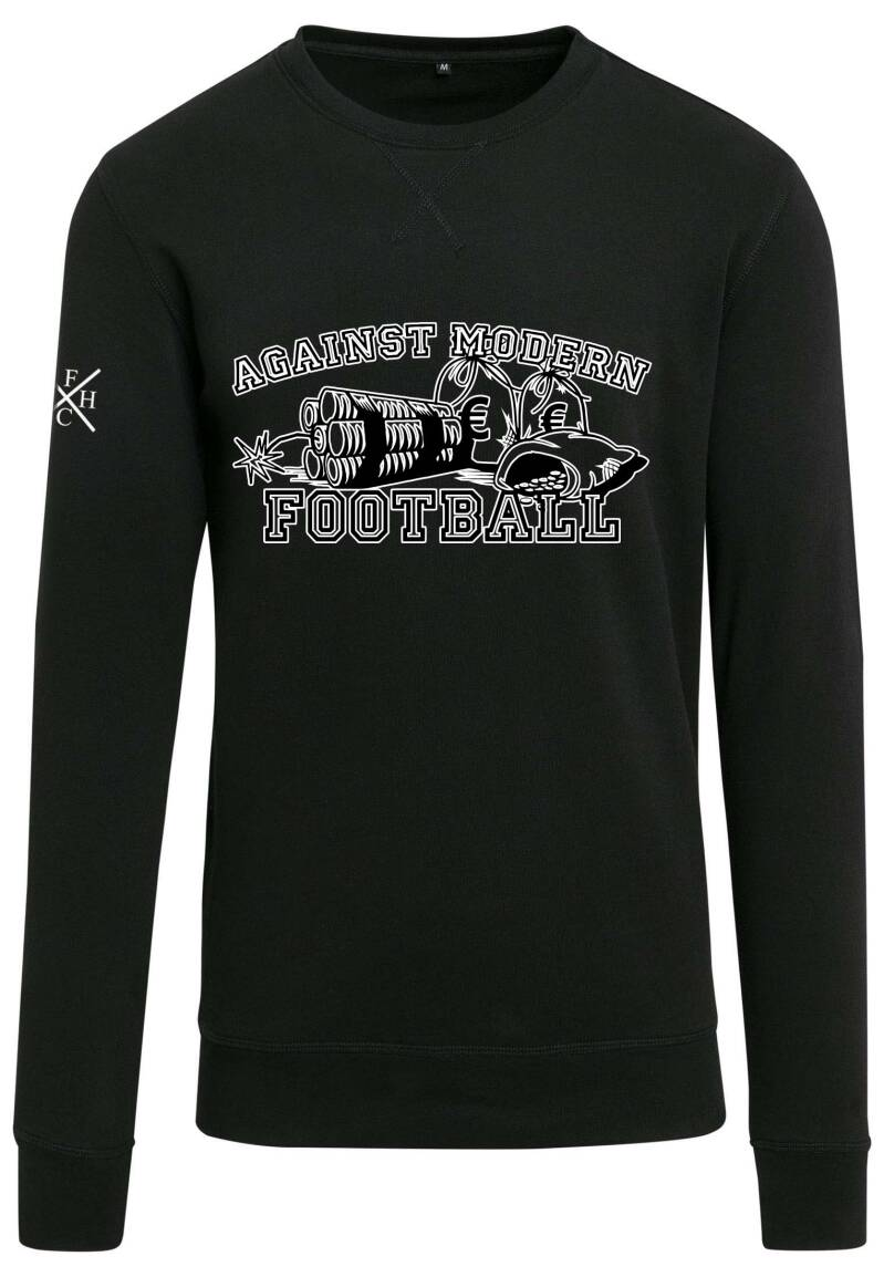 Sweater Against Modern Football zwart/wit