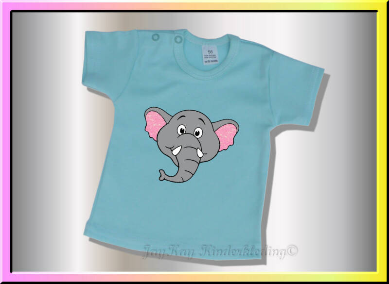 T-shirt met grappige cartoon olifant    (B027)