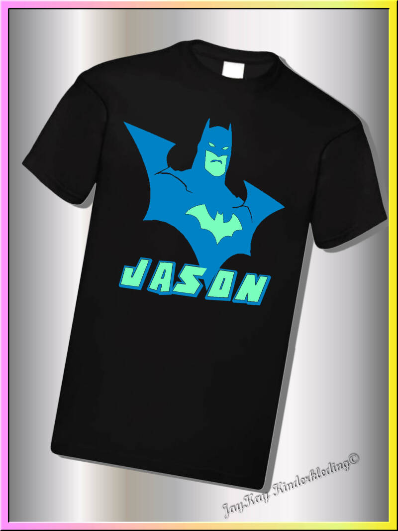 T-shirt, longsleeve of hoodie vestje met Glow in the dark Batman                     (BGK0025)