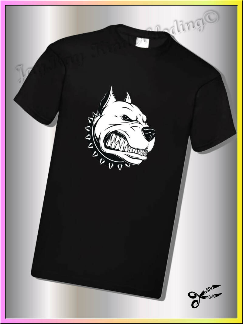 "T-shirt, sweater of hoodie met "" grommende pitbull ""        (BPV004)"