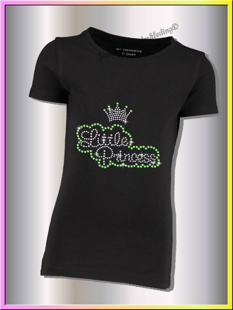 Zwart  t-shirt little princess......S0011