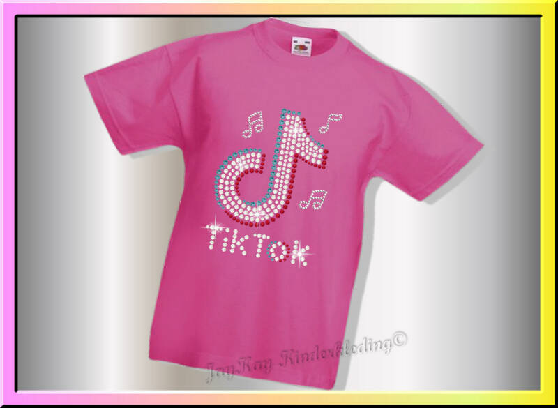 T-shirt TikTok Style in strass    (S0038)